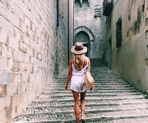 girl, fashion, and travel image