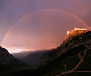 rainbow, sky, and nature image