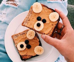 food, banana, and bear image