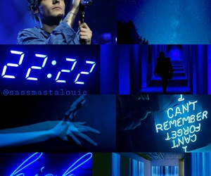 black, blue, and Collage image