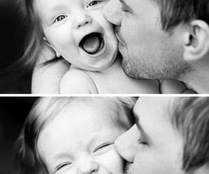 baby, dad, and black image
