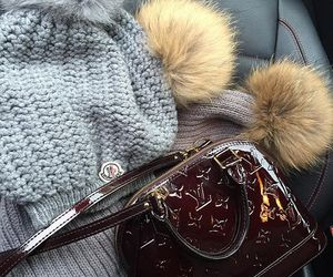 beanie, fashion, and fur image