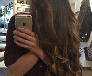 curl, hair, and iphone6 image