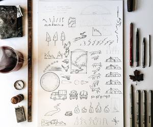 drawings, Paper, and pen image