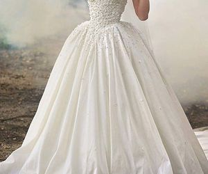 dress, wedding, and nails image