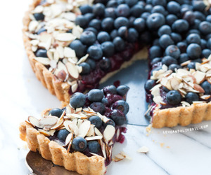 food, blueberry, and tart image
