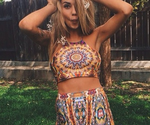 hippie, girl, and pretty image