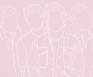 one direction, pink, and niall horan image