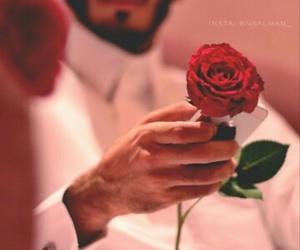 arab, redrose, and boy image