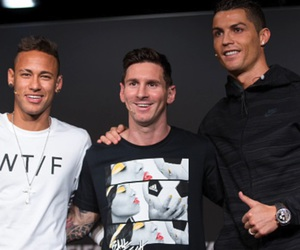 neymar, cristiano ronaldo, and lionel messi image