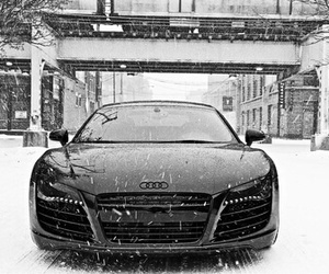 audi, car, and snow image