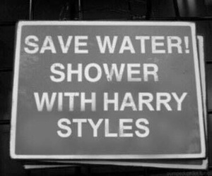 shower and Harry Styles image