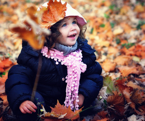 autumn, baby, and blue image