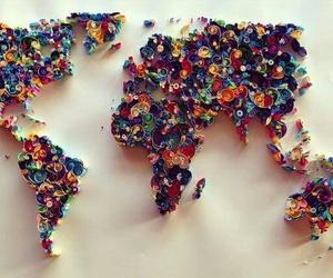 world, art, and map image