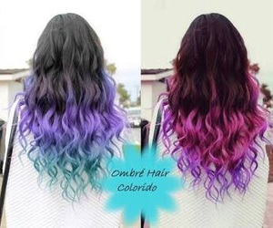 colorfull, hair, and ombré image