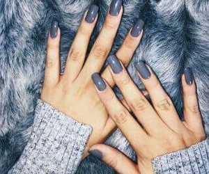 nails, grey, and fur image