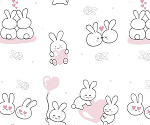 background, pattern, and rabbit image