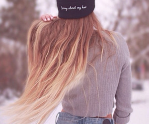hair, winter, and style image