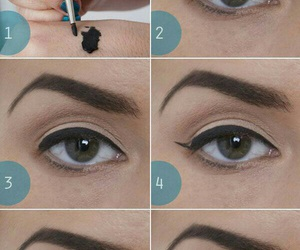 makeup, eyeliner, and make up image