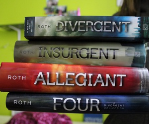 books, insurgent, and four image