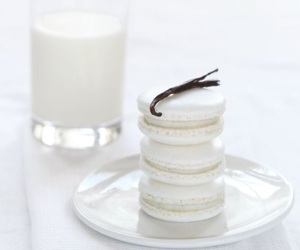 white, food, and macarons image