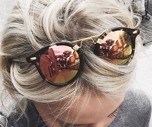 fashion, sunglasses, and hair image