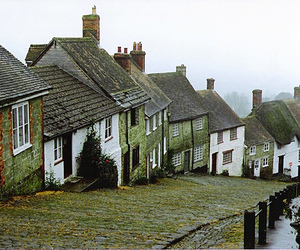 house, street, and england image