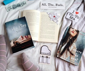 if i stay, books, and gayle forman image