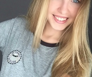 beautiful, blonde, and blue image