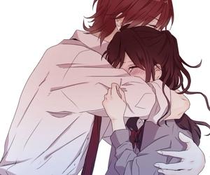 anime, couple, and nijiro days image