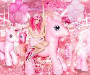 balloons, my little pony, and pink image