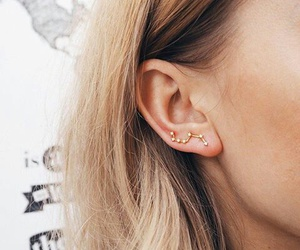 earrings, hair, and jewelry image