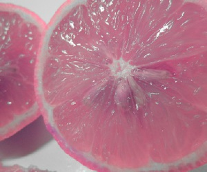 pink, fruit, and lemon image