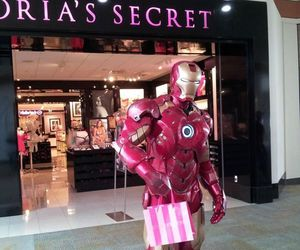 iron man, Victoria's Secret, and funny image