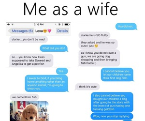 funny, dog, and wife image