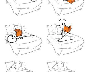 book, position, and reading image