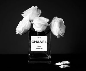 chanel, flowers, and perfume image