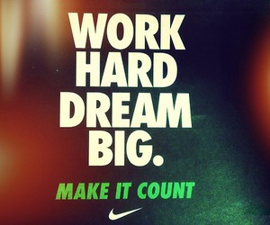 nike, Dream, and motivation image