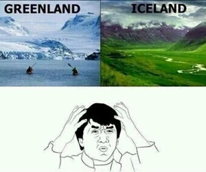 greenland, funny, and iceland image