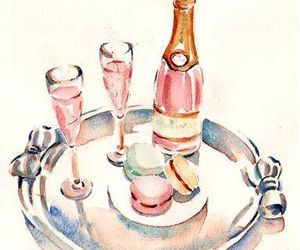 champagne, pink, and art image