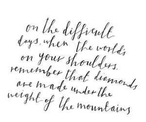 quote, diamond, and life image