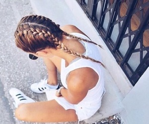 adidas, braids, and sun image