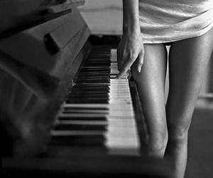 black, Hot, and piano image