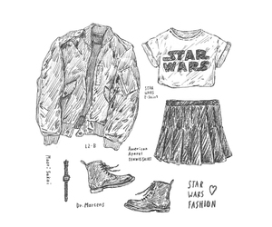 american apparel, illustration, and outfit image