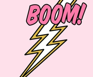 pink, wallpaper, and boom image