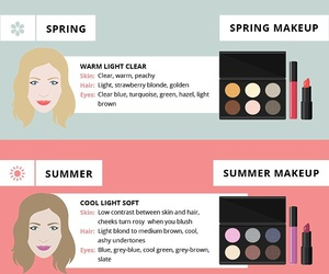 beauty, make up, and spring image