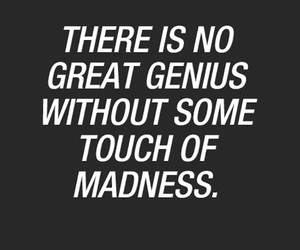 genius, madness, and quote image