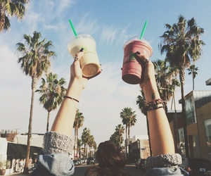summer, drink, and starbucks image
