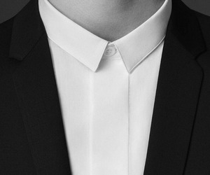 black, man, and suit image