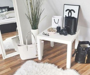 white, chanel, and home image